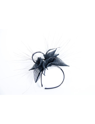 FASCINATOR WITH LONG THIN FEATHER