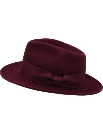 WOOL FELT LADIES FEDORA