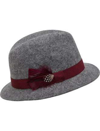 WOOL FELT LADIES SMALL FEDORA