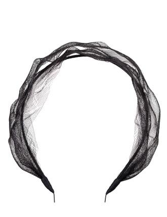 Distressed mesh headband