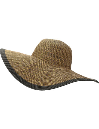Metallic Floppy Paper Straw Hat