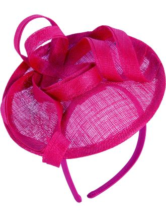 Medium Fascinator With Ribbon Trim On Headband