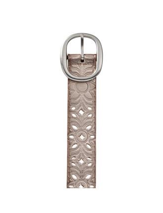 Floral Perf Strap Belt