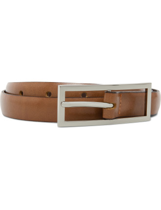 19mm Plain Belt With Shiny Nickel Buckle