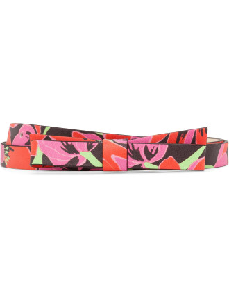 Rio Floral Skinny Bow Belt