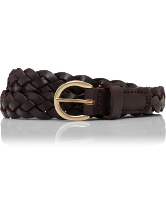 Braided Leather Pin Buckle Belt