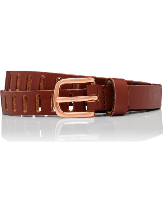 Endless Leather Pin Buckle Belt