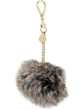 Ren Plain Faux Fur Bag Charm