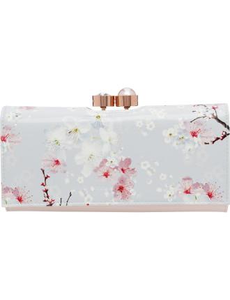 Chiara Oriental Blossom Patent Matinee Purse