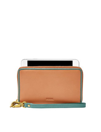 Emma Wristlet Leather