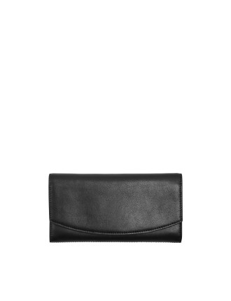 Continental Leather Flap Wallet Leather