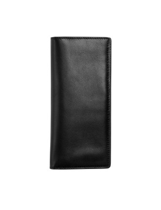 Slim Vertical Wallet Leather