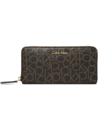 CK MONOGRAM CONTINENTAL WALLET