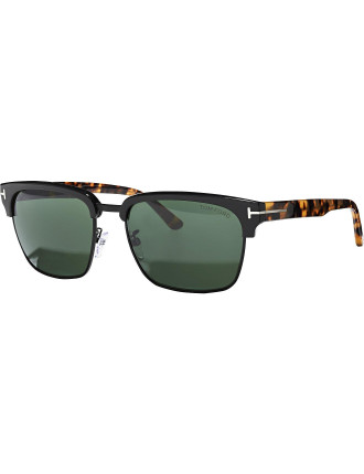 'RIVER' MENS METAL SQUARE SUNGLASS