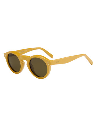 BEVEL ROUND SUNGLASSES