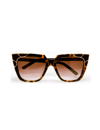 charlie & the angels in dark tortoise with gold corners