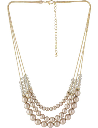 Strand Bead Pearl Necklace