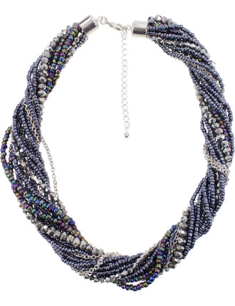 Twisted Seed Bead Necklace