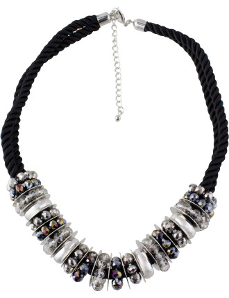 Faceted Rhondelle Beaded Necklace