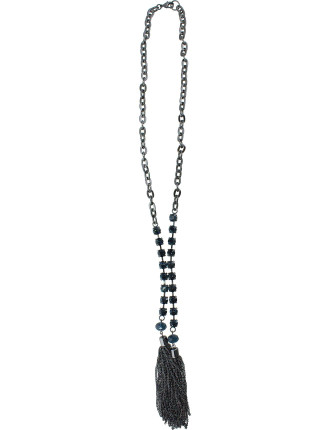 Crystal Tassel Necklace