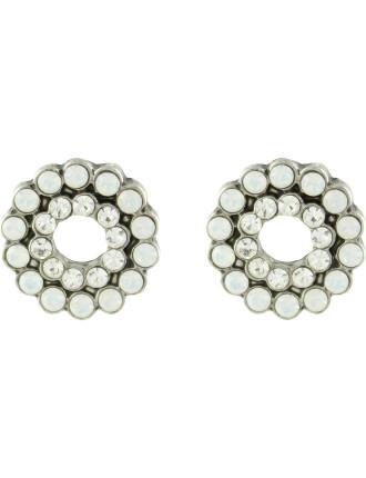 Open Stoneset Stud Pierced Earrings