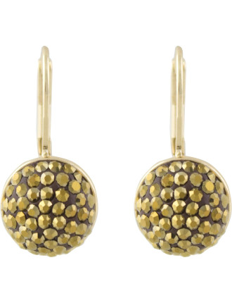 Pave Dome Fix Frenchwire Earrings