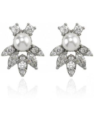 Velvet Nights Pearl Stud Earrings