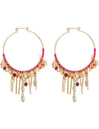 Gemma Charm Hoop Earrings