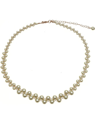 Pearl/Wire Necklet