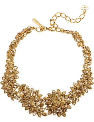 Millegrain Petal Necklace