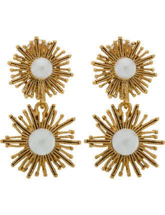 Pearl Sun Star C Earring
