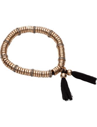 Twin Tassel Stretch Bracelet