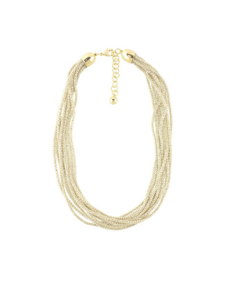 Crystal Mesh Multi Strand Necklace