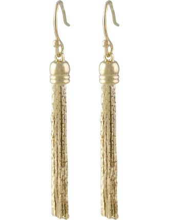 Sleek Chain Tassel Fish Hook Earrings