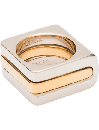 Greta Square Stacking Ring