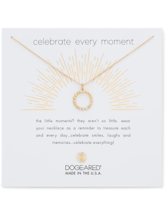 Celebrate everything dotted circle crystal necklace