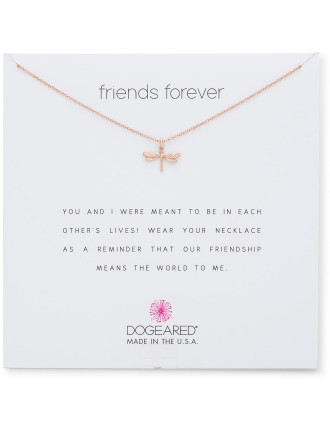 friends forever dragonfly necklace, 16 w/ 2 ext, R