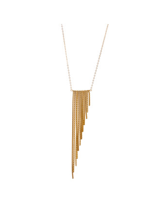 Your Shine Is 1 Of A Kind Large Fringe Angle Necklace 16'