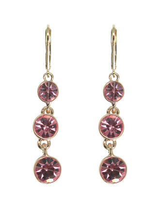 GLAM STONESET TIERED DROP EARRING