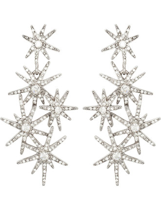 CRYSTAL FIREWORKS P EARRING