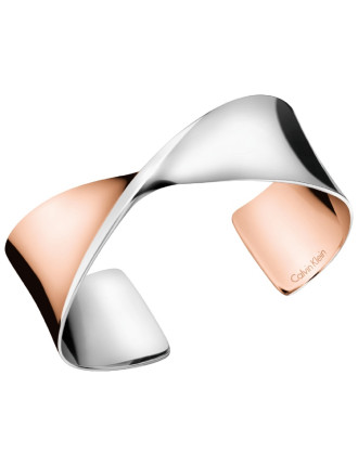 Open Bangle - Stainless Steel / Rose Gold PVD