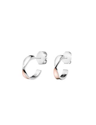 Open Earrings - Stainless Steel / Rose Gold PVD