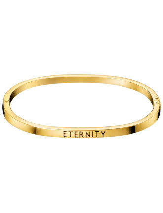 Engraved Eternity Bangle - Yellow Gold PVD