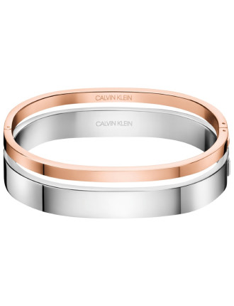 Hook SS And Polished Rose Gold PVD Bangle