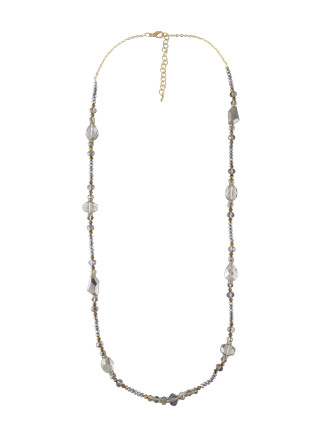 Abstract Bead Long Necklace