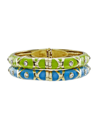 Criss-Cross Twinset Bangle With Giftbox