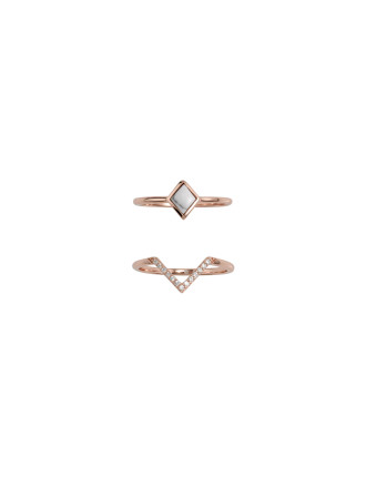 Midnight Hummingbird Ring Set