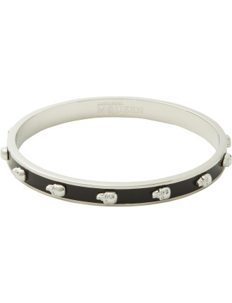 Skinny Bangle Multi Skull Enamel