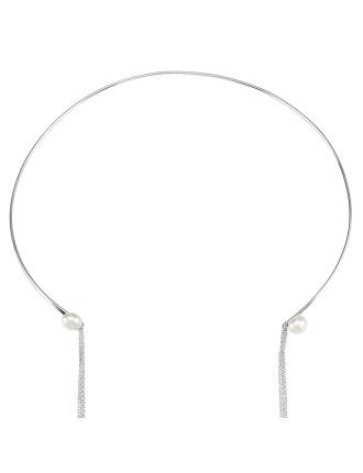 Noontide Neck Cuff-White Pearl/Silver