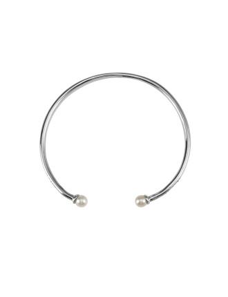 Noontide Cuff-White Pearl/Silver